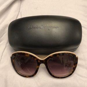 Brown Tortoise Ferragamo Cat Eye Sunglasses